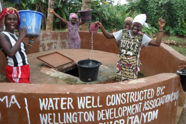 Safe water well in Wellington slum community